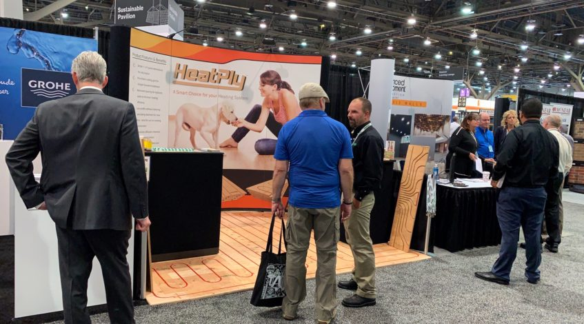 Radiant Floor Heating HeatPly 2019 Tradeshow