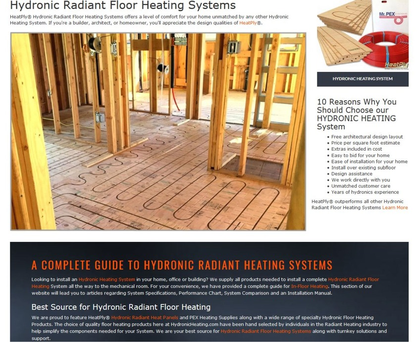 Hydronic Heating Best System For Radiant Floor